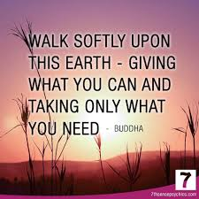 Image result for Walk lightly quotes